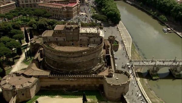 Замок Святого Ангела в Риме - Вид сверху