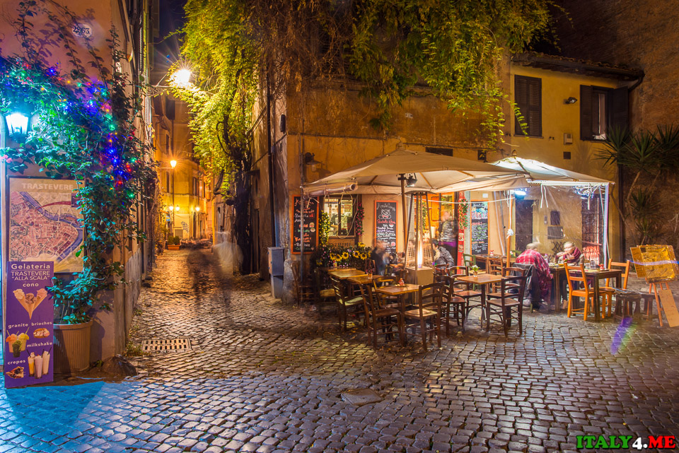 Римский ресторан в районе Трастевере