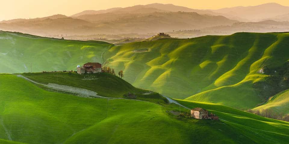 Тоскана в лучах солнечного света