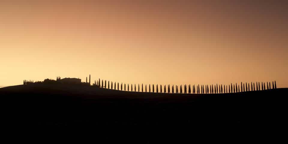 Тоскана на закате, долина Валь д Орча