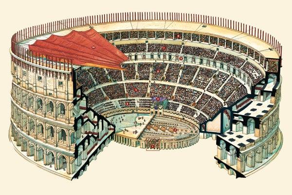 Колизей в Риме - Структура