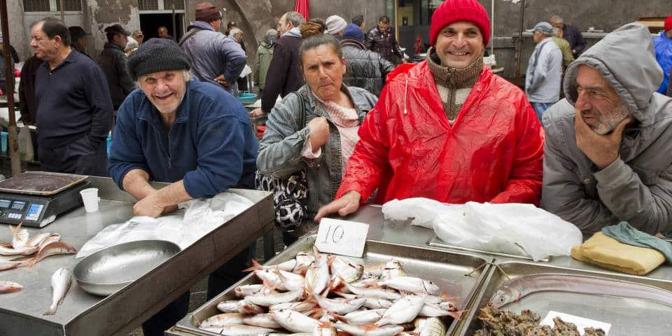 Рыбный рынок в Италии