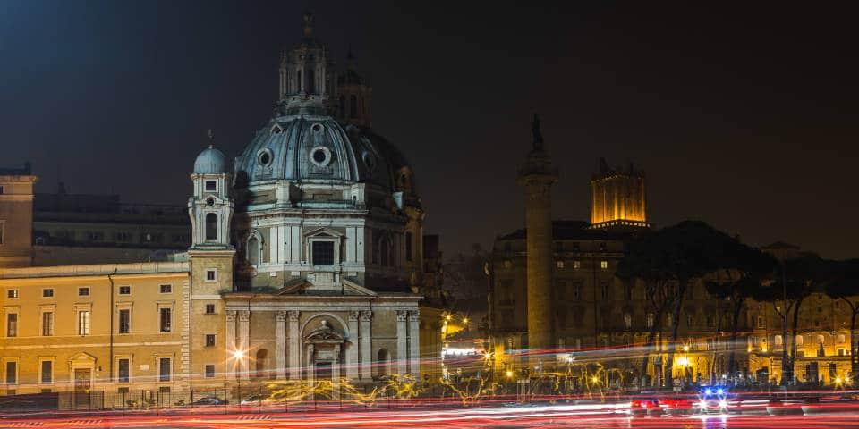 Ночные фотографии Рима