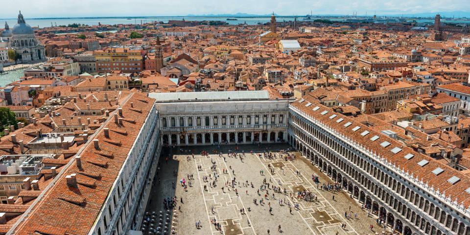 Площадь Сан Марко в Венеции с высоты