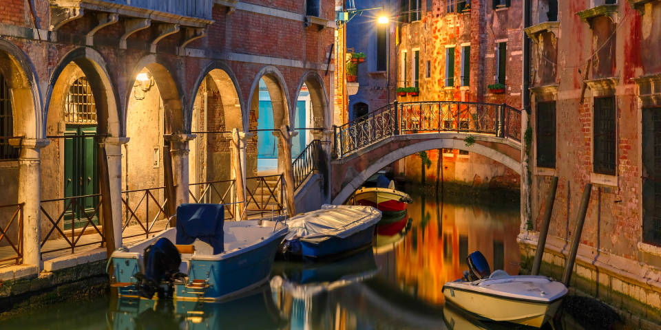 Романтика Венеции ночью