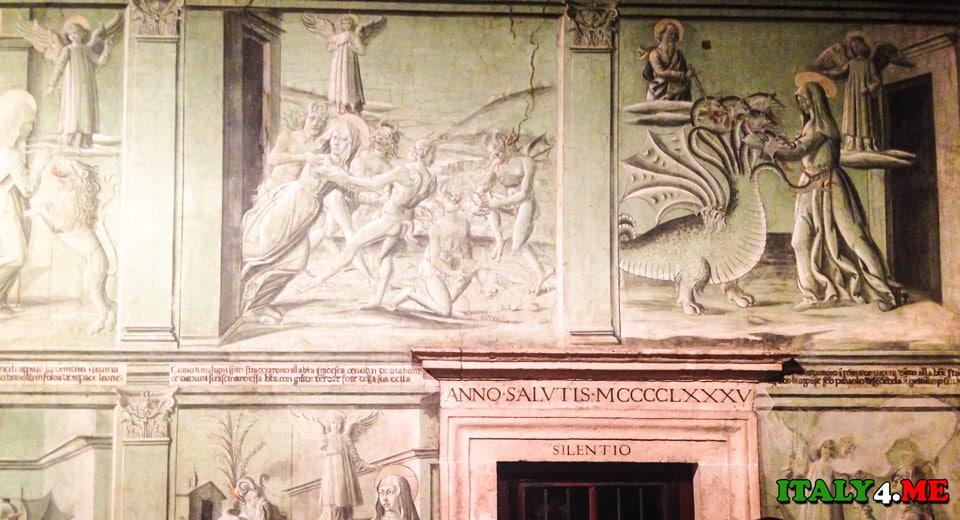 фреска со страданиями святой Франчески