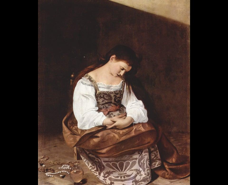 Кающаяся Магдалина картина Караваджо в Риме