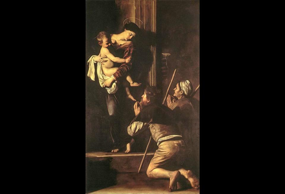Мадонна ди Лорето или Матерь паломников картина Караваджо в Базилике Святого Августина в Риме