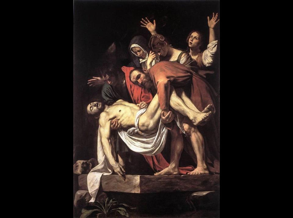 Погребение Христа картина Караваджо в пинакотеке Ватикана