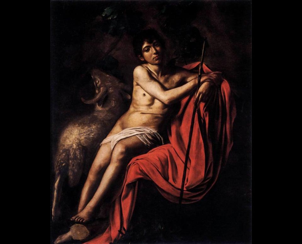Святой Иоанн Креститель картина Караваджо