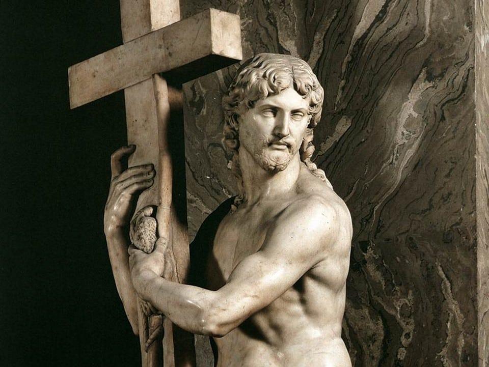 Статуя Христа в церкви Санта-Мария Сопра Минерва