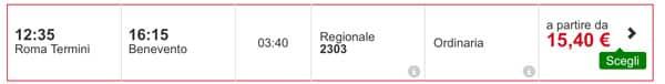 Расписание поезда из Рима в Беневенто