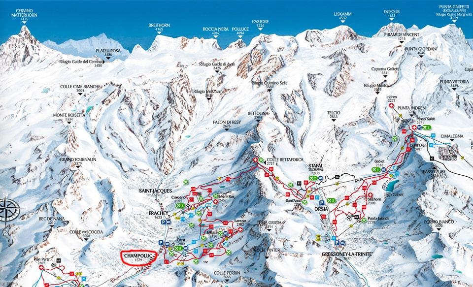 Монте Роза карта трасс в формате PDF