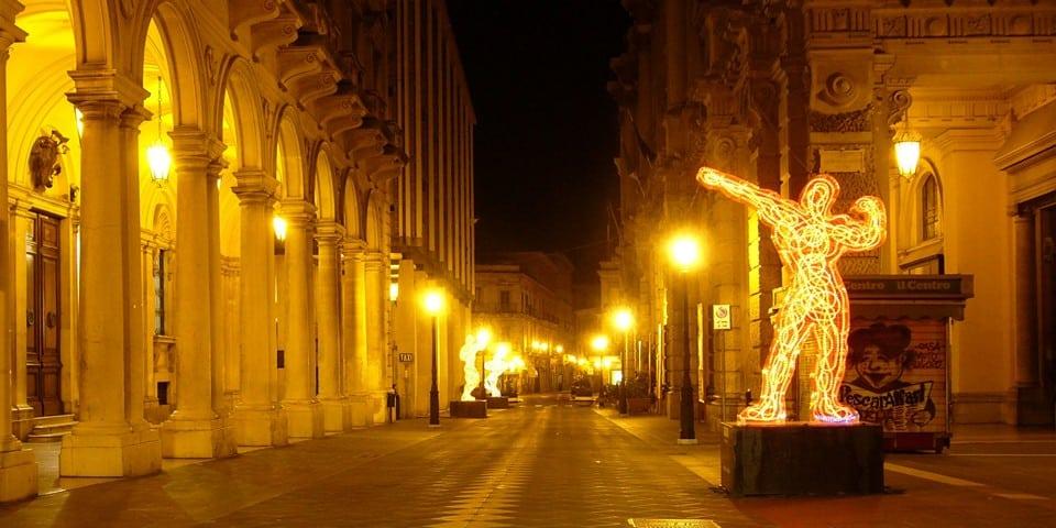 Историческая улица Corso Marrucino в Кьети, Италия