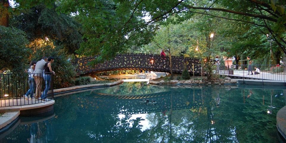 Городской парк Villa Comunale в Кьети, Италия