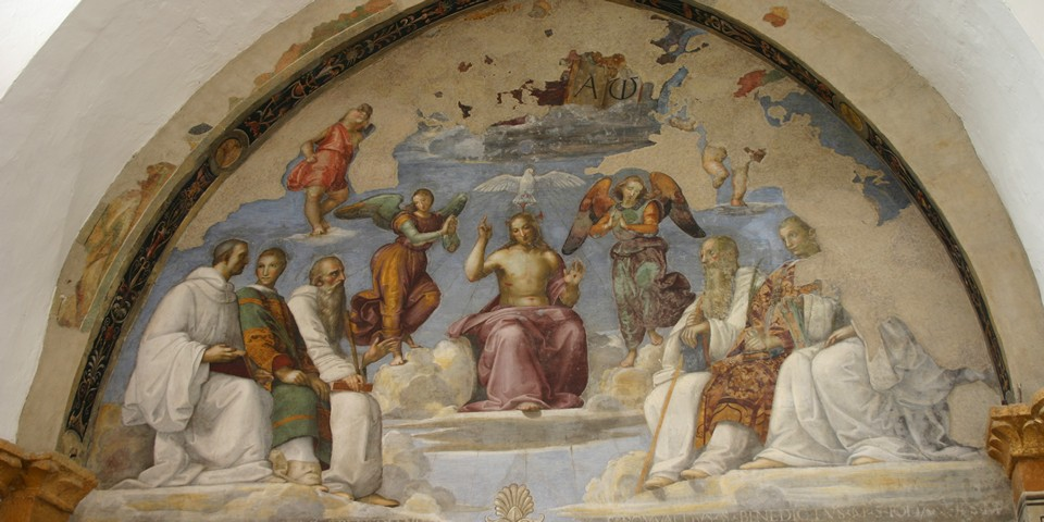 «Trinita e santi»
