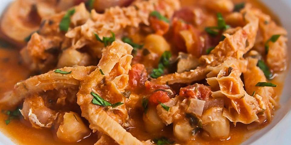 Trippa al salsa – коровий желудок
