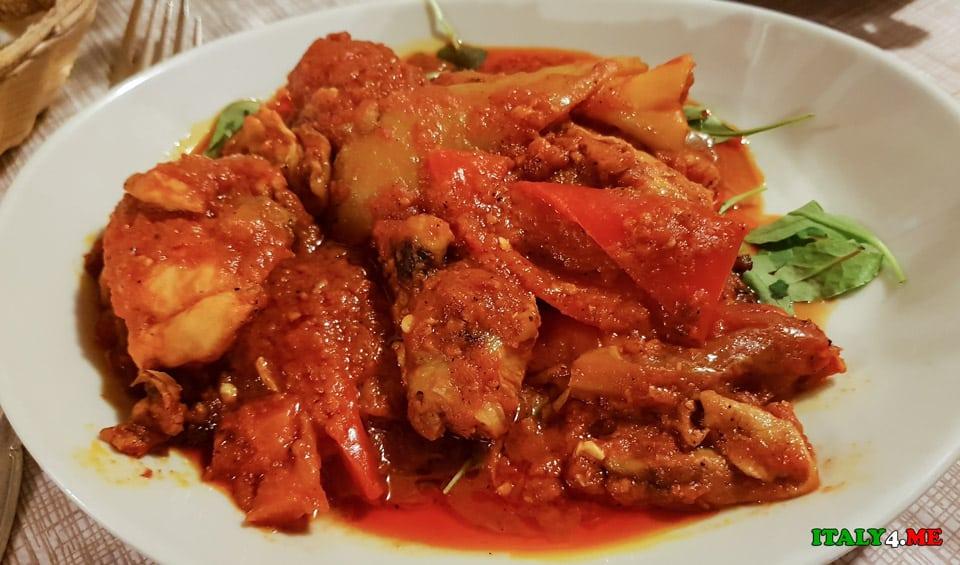 курица по-римски (Pollo alla Romana)