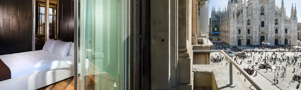 Отель 5 звезд в центре Милана с видом на собор Дуомо