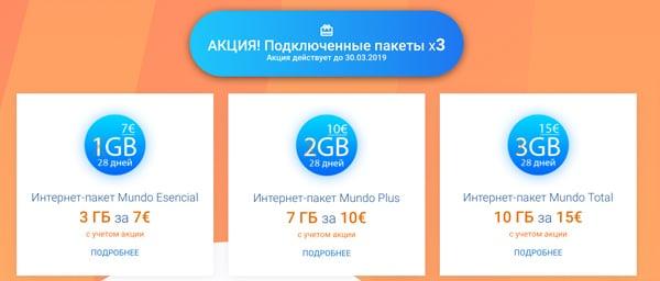 Интернет пакет оператора Orange