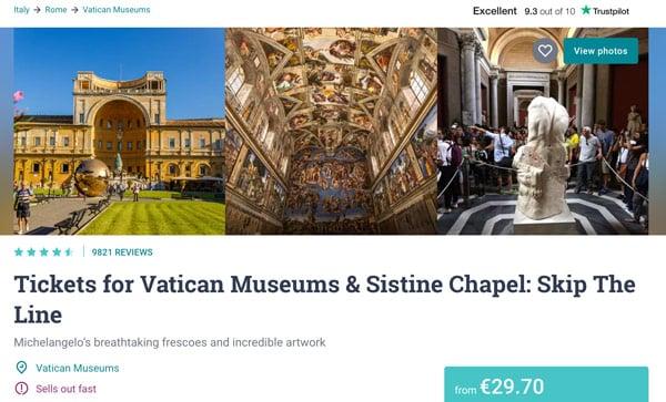 Билеты в музеи Ватикана через агенство в последний момент