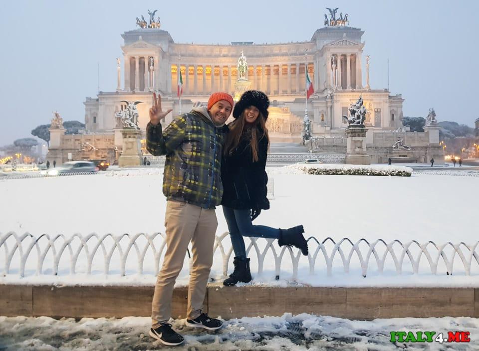Гид Артур Якуцевич в заснеженном Риме