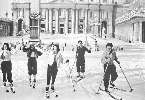 Снег в Ватикане в 1956 году