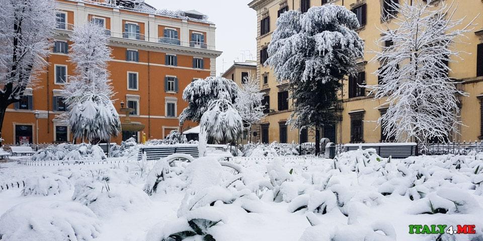 Рим после снегопада 2018 года