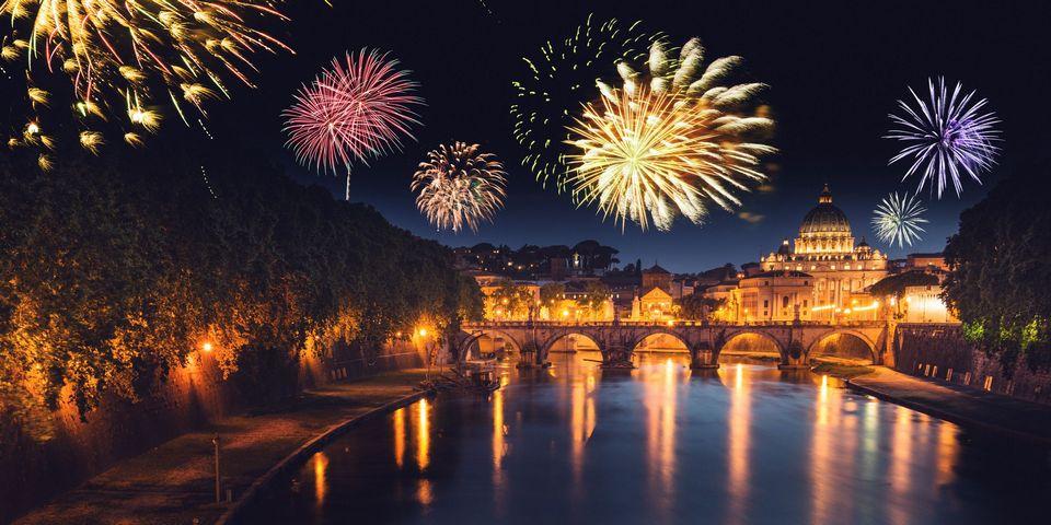 Как встречают Новый Год Рим и Флоренция