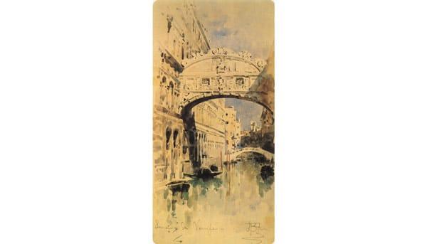 рисунок Врубеля Венеция. Мост Вздохов