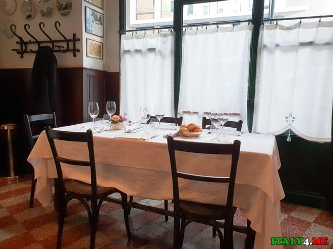 Интерьер ресторана в Милане Antica Trattoria dela Pesa