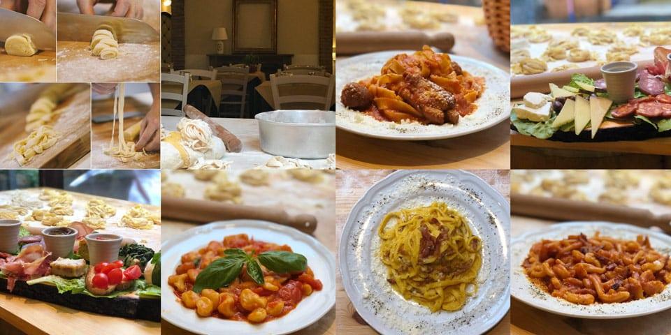 домашняя итальянская паста в ресторане в Риме