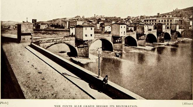 Мост Понте-алле-Грацие до реконструкции
