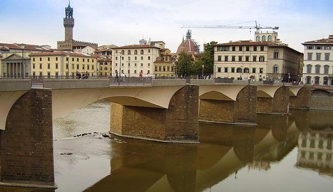 Мост ponte alle Grazie во Флоренции