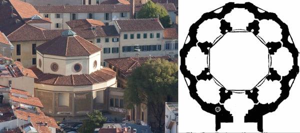 Церковь Санта-Мария-дельи-Анжели архитектор Филиппо Брунеллески
