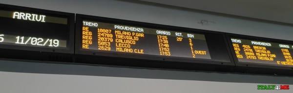 Расписание движения поездов от станции Бергамо