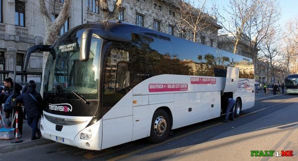 Автобус Terravision из Милана в аэропорт Бергамо
