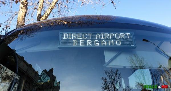 Прямой автобус из Милана в аэропорт Бергамо