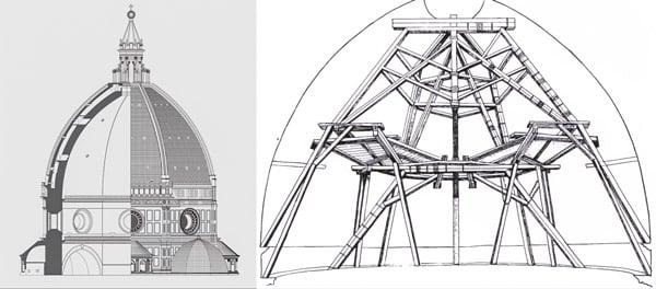 Чертежи купола Брунеллески