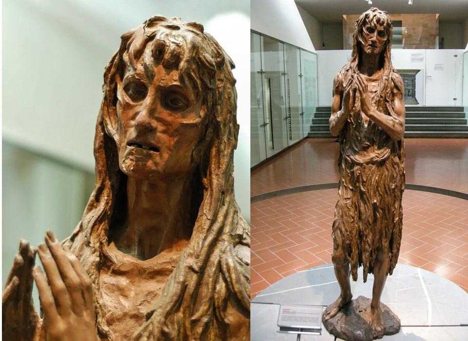 Деревянная статуя Марии Магдалины автор Донателло