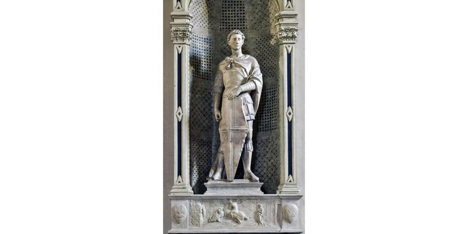 Скульптура Святого Георгия авторства Донателло