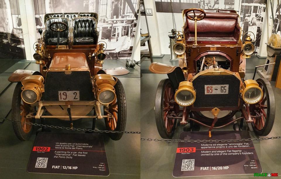 Автомобили Fiat 1902 и 1903 года выпуска