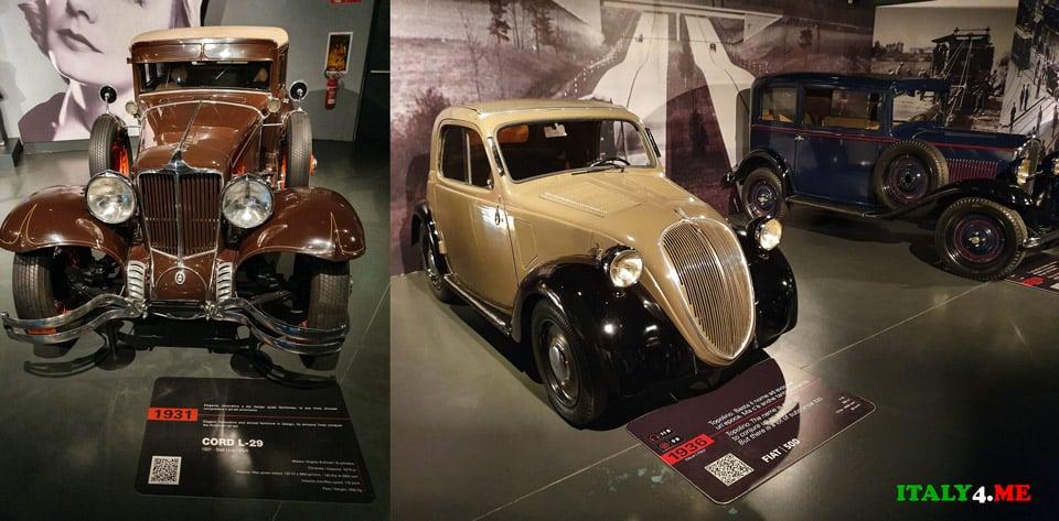 Cord L-29 1931 года и Fiat 500 1936 года