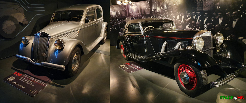 Lancia Aprilia 1948 года и Mercedes Benz 540X 1936 года