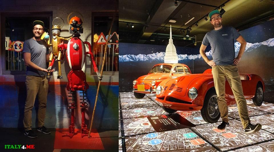 Артур Якуцевич в национальном музее автомобилей в Турине