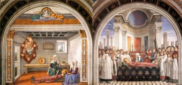 Капелла Санта Фина, святой Серафимы в Сан-Джиминьяно