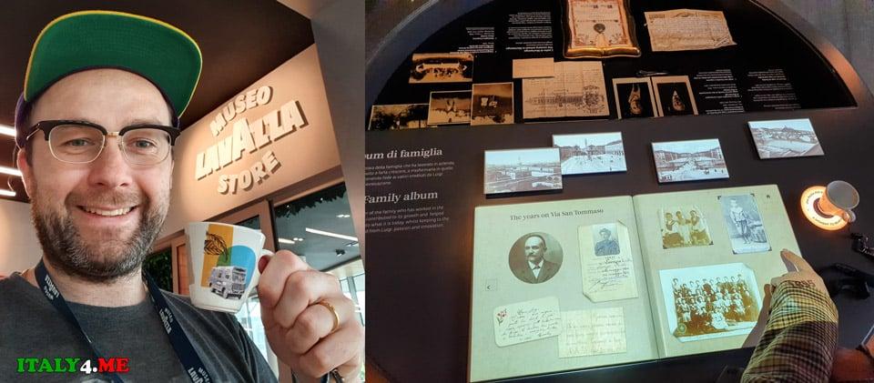 гид Артур Якуцевич в музее кофе в Турине