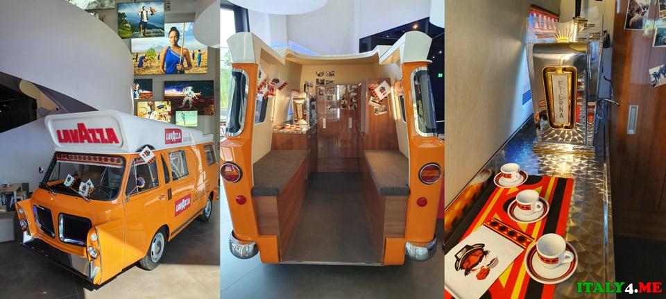 Автомобиль-кофейня для продажи кофе Lavazza