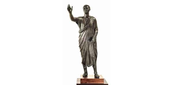 Бронзовая статуя оратора Авла Метелла (Arringatore)