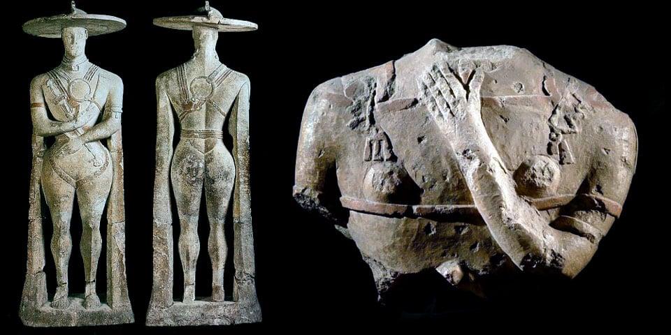 Античная статуя VI века Воин из Капестрано